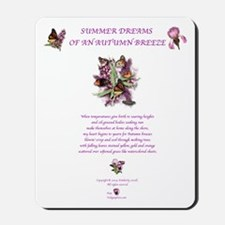 Summer Dreams w/butterflies prpl2 Mousepad