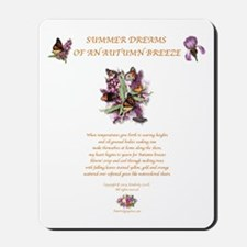 Summer Dreams w/butterflies gold2 Mousepad
