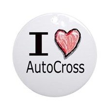 I Heart Auto Cross Ornament (Round)