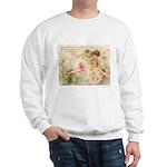 Victorian Fairies Pink Flowers Love Sweatshirt