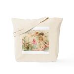 Victorian Fairies Pink Flowers Love Tote Bag