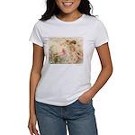 Victorian Fairies Pink Flowers Love Women's T-Shir