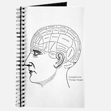 Cute Phrenology head Journal