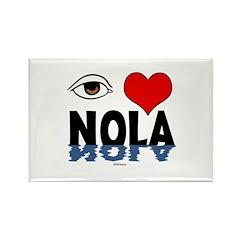 Eye Love NOLA (brown) Rectangle Magnet (10 pack)