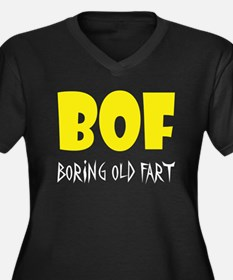 Boring Old Fart Women's Plus Size V-Neck T-Shirt