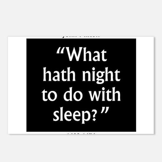 What Hath Night To Do With Sleep - John Milton Pos