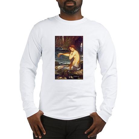 MERMAID painting Waterhouse art Long Sleeve T-Shir