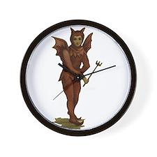 Th Little Devil Halloween Wall Clock