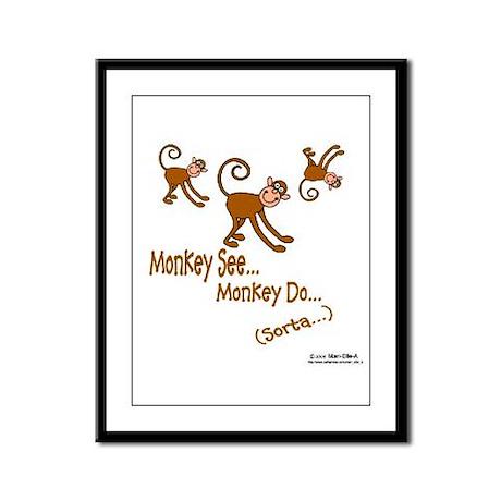 Monkey See Framed Panel Print