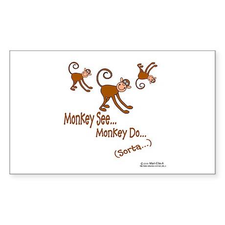 Monkey See Rectangle Sticker