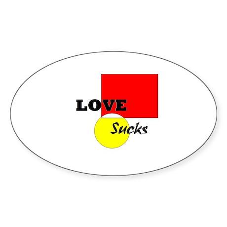 Love Suck Oval Sticker