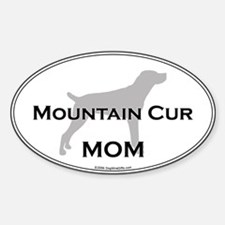 Mountain Cur MOM Oval Decal
