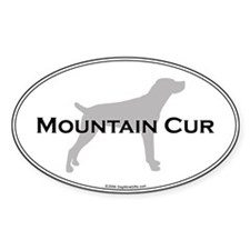 Mountain Cur Oval Bumper Stickers
