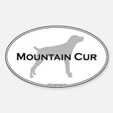 Mountain Cur Oval Decal