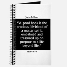 A Good Book Is The Precious Life Blood Journal