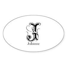 Julianne: Fancy Monogram Oval Decal