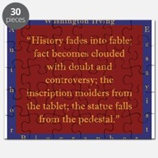 History Fades Into Fable - W Irving Puzzle