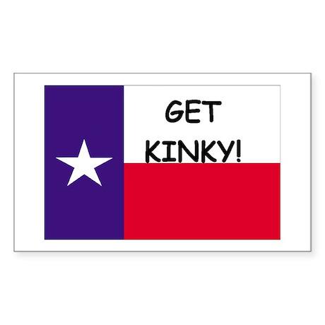 Get Kinky Rectangle Sticker