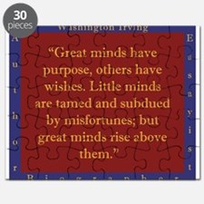 Great Minds Have Purpose - W Irving Puzzle