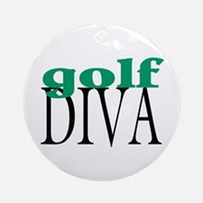 Golf Diva Ornament (Round)