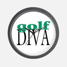 Golf Diva Wall Clock