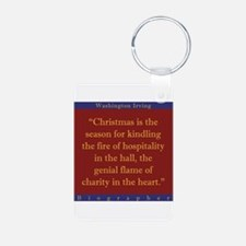 Christmas Is The Season - W Irving Keychains