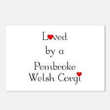 Loved by a Pembroke Welsh Corgi Postcards (Package