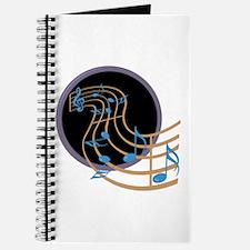 Music Notes Circle Journal