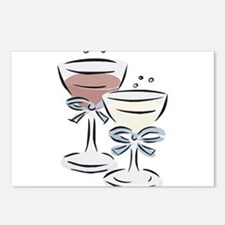 WINE GLASSES Postcards (Package of 8)