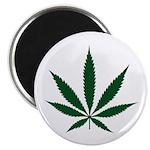 Marijuana Leaf Green Magnet