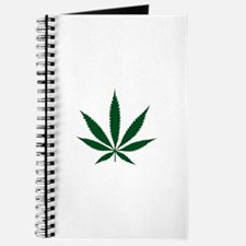 Marijuana Leaf Green Journal