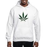 Marijuana Leaf Green Hooded Sweatshirt