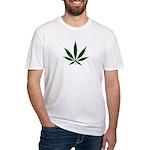 Marijuana Leaf Green Fitted T-Shirt