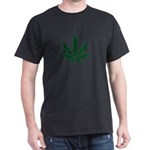 Marijuana Leaf Green Dark T-Shirt