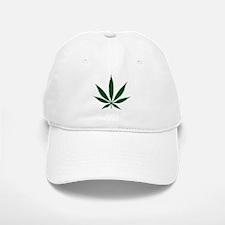 Marijuana Leaf Green Baseball Baseball Cap