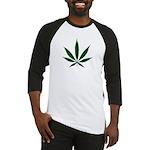 Marijuana Leaf Green Baseball Jersey