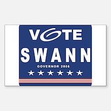 Vote Lynn Swann Rectangle Decal