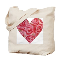 Shabby Chic Heart Tote Bag