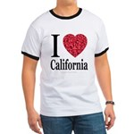 I Love California Ringer T