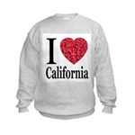 I Love California Kids Sweatshirt