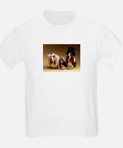 Basset Wedding Kids T-Shirt