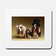 Basset Wedding Mousepad