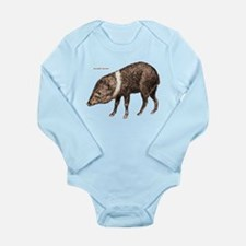 Collared Peccary Animal Long Sleeve Infant Bodysui