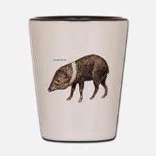 Collared Peccary Animal Shot Glass
