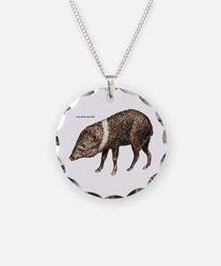 Collared Peccary Animal Necklace