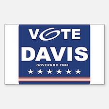 Vote Jim Davis Rectangle Decal