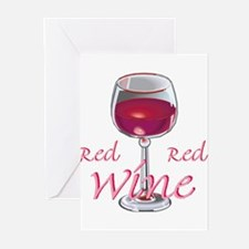 RED RED WINE Greeting Cards (Pk of 10)