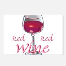 RED RED WINE Postcards (Package of 8)