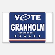 Vote Jennifer Granholm Rectangle Decal