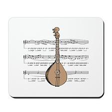 Mandolin and Sheet Music Design Mousepad